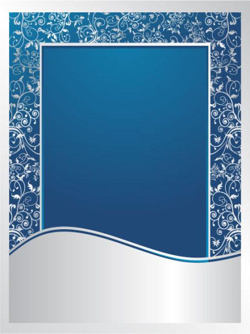 素材 元素 花纹插画 > 蓝色青花瓷矢量花纹框  花纹图案 花纹边框