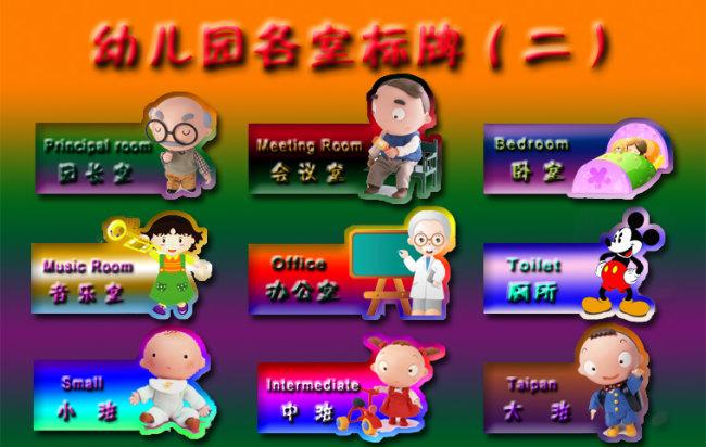 【psd】幼儿园各班班牌(二)