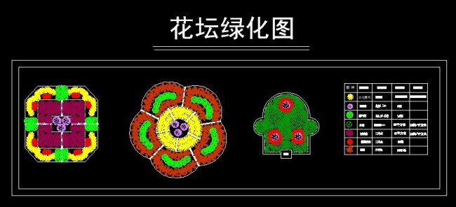 【dwg】园林绿化花坛设计图
