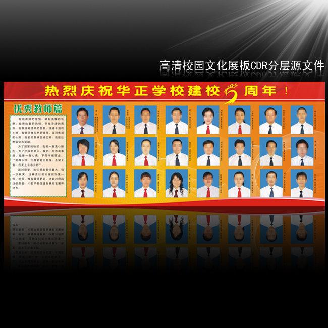 【cdr】校庆文化宣传展板-优秀教师风采篇