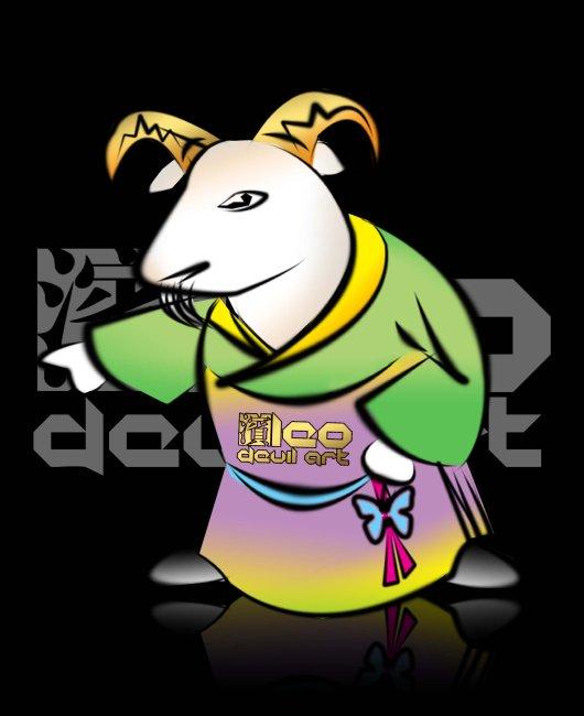 【psd】原创12生肖卡通形象设计 十二生肖羊