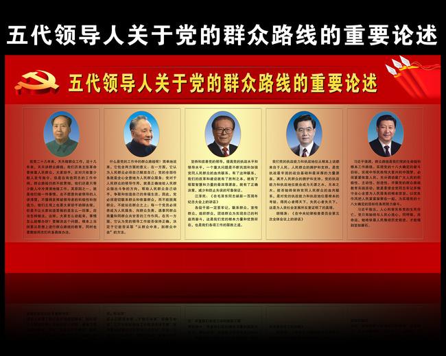 党建展板 政府展板 国家领导人