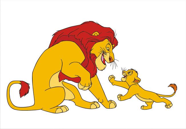 狮子 王者风范 森林之王 小狮子 动态卡通人物 吉祥物设计 矢量图