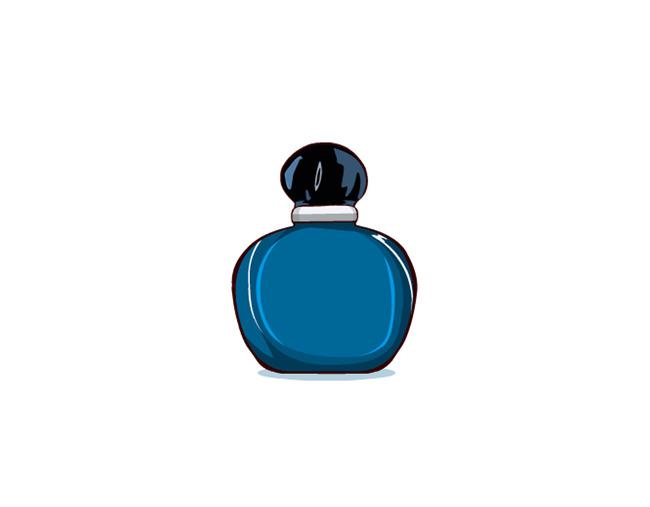 香水 化妆品 午夜奇葩 迪奥 瓶子 矢量物品 说明:卡通香水矢量图 分享