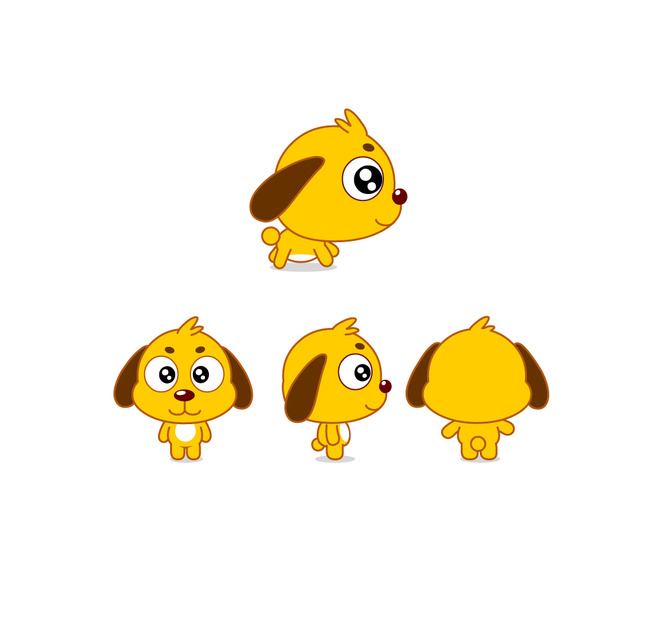 形象矢量图  关键词: 小狗 狗狗 萌 可爱 漫画 吉祥物 卡通形象 动物