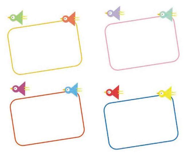 矢量边框小鸟卡通可爱彩色 分享到:qq空间新浪微博腾讯微博人人网开心