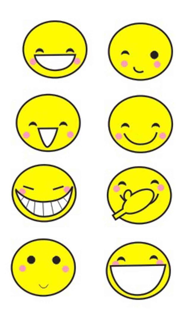 【cdr】卡通笑脸各种笑脸矢量