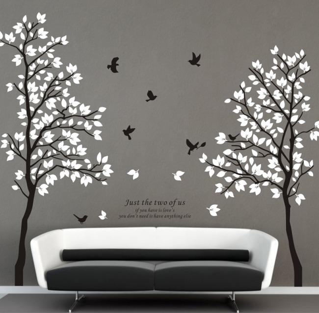 > 情侣树矢量素材cdr图  关键词: 墙贴 设计 图库 元素 素材 墙绘 墙