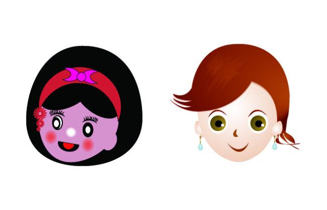 【ai】卡通女头像_图片编号:wli1415780_卡通形象
