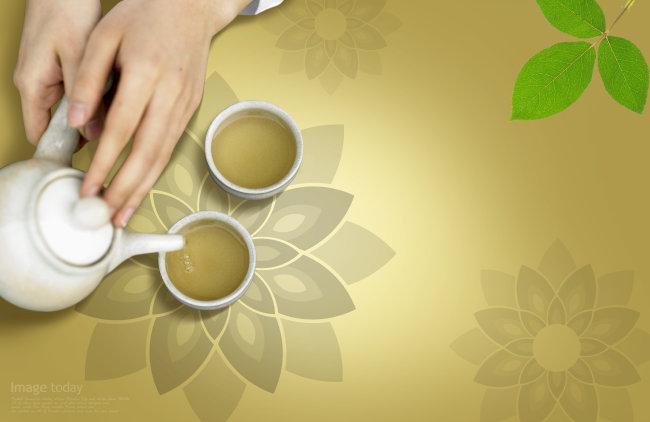 【psd】茶叶 海报背景设计psd源文件