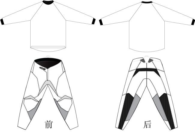 摩托车 服装 服装设计 赛车服 摩托车服装 裤子 衣服 矢量图 衣服素材