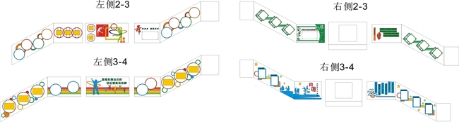 【cdr】校园楼梯走廊装饰方案矢量图