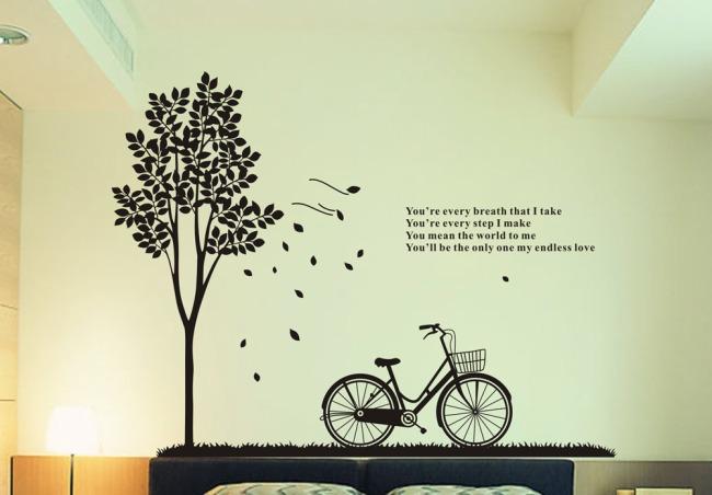 【cdr】树与单车cdr原创矢量图