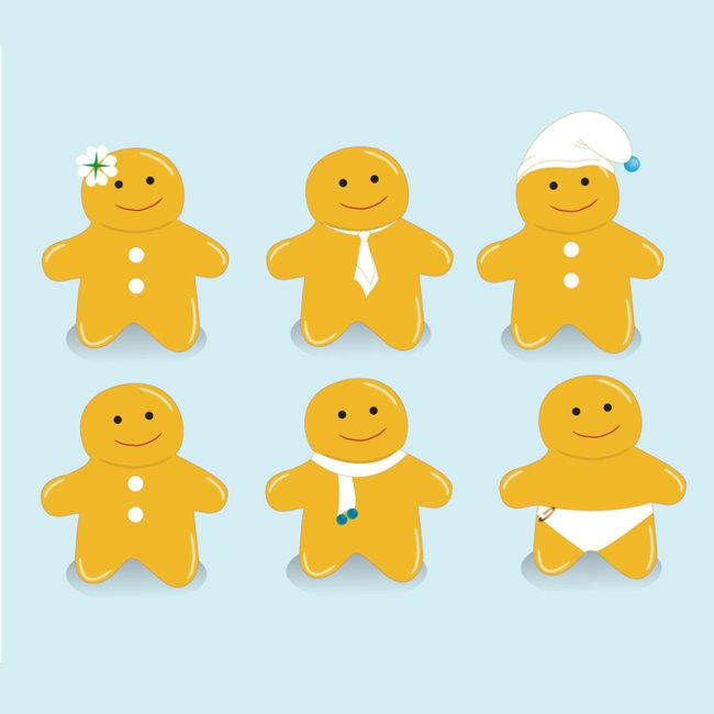 【AI】卡通姜饼小人素材设计_图片编号:wli10573336_卡通形象_插画|素材|元素_原创图片下载_智图网_www.zhituad.com
