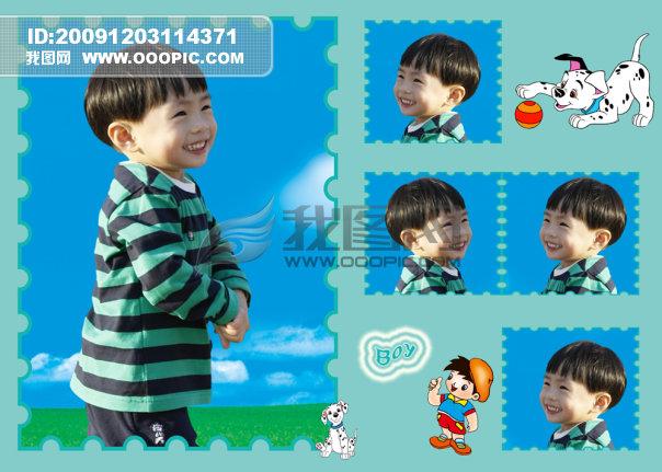 實用 兒童相冊模板 兒童相框模板 兒童照片模板 兒童相片模板 影樓