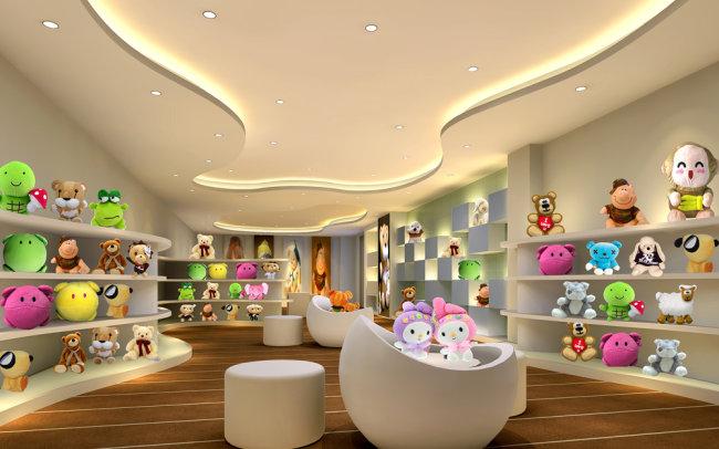 玩具展厅效果图