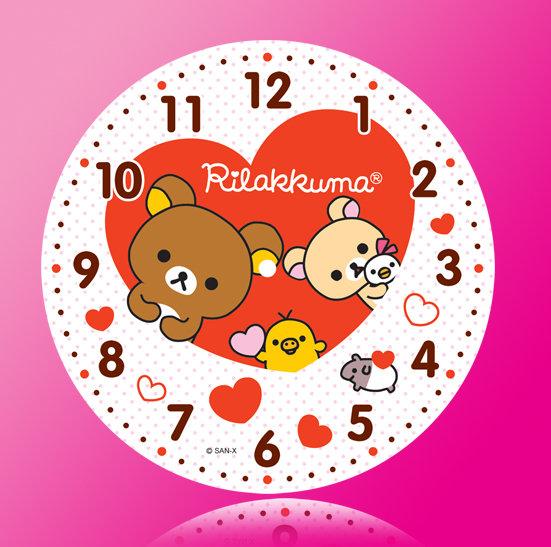 【ai】轻松熊卡通钟表