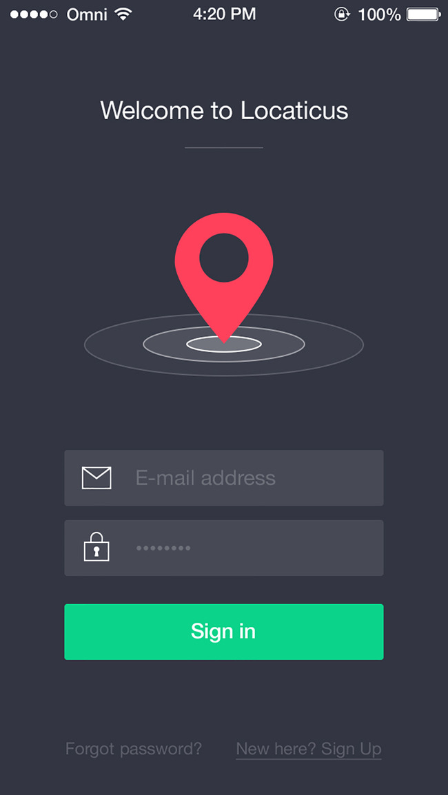 手机软件登陆界面UI交互设计