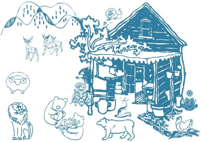 【cdr】动物房屋-简笔画