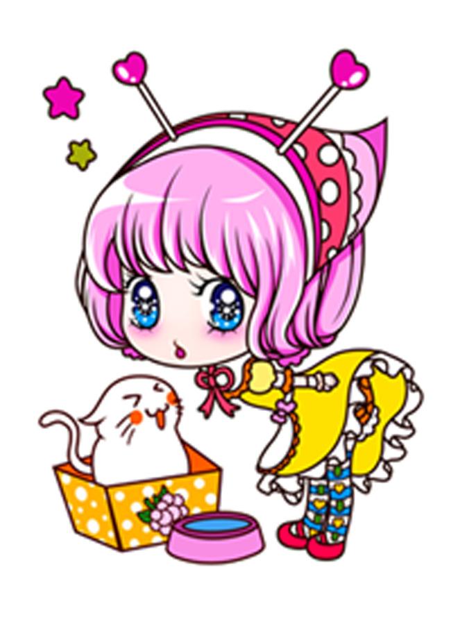 草莓女孩 动漫 漫画 蝴蝶结 大眼睛娃娃 说明:卡通女孩可爱女孩女孩子
