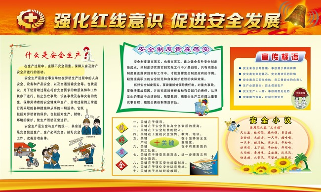 【】2014安全生产月活动展板