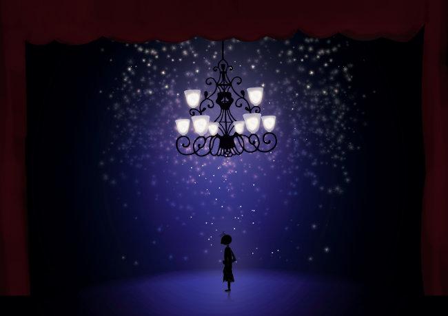 【psd】手绘舞台