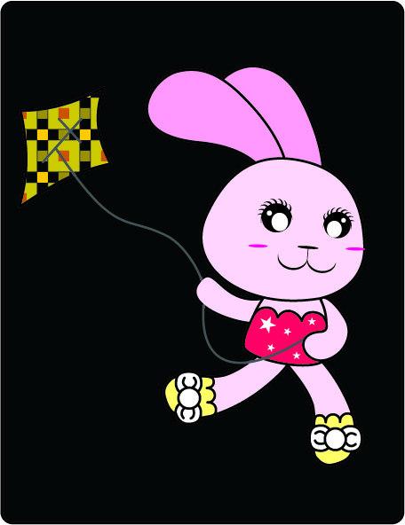 【eps】俏皮可爱兔子 卡通形象