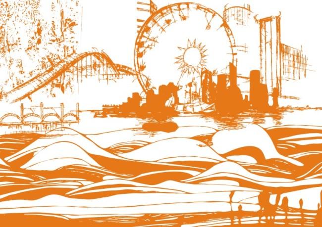 关键词:手工画 矢量 素材 白描画 素描画 手绘画 美术画 简写画 简笔画 线条画 美工画 手描画 插画 画 工笔画 风景画 海浪 摩天楼 高楼大厦 城市建设 建筑 海边 天桥 波浪 海景 沿海城市 说明:黄金海岸-简笔画