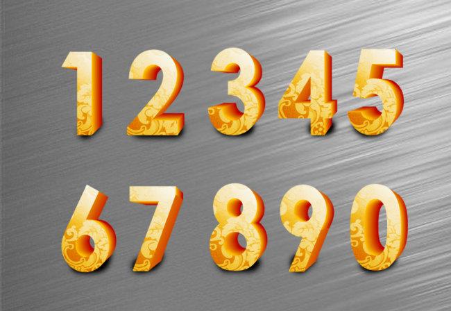 【cdr】3d立体金属数字设计