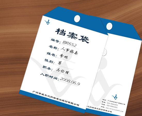生活用品包装 > 档案袋ps设计模板下载