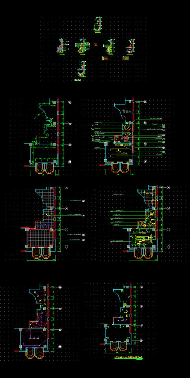 强弱电位置示意图 天花布置图 照明电路控制示意图 建筑资料平面图 ca