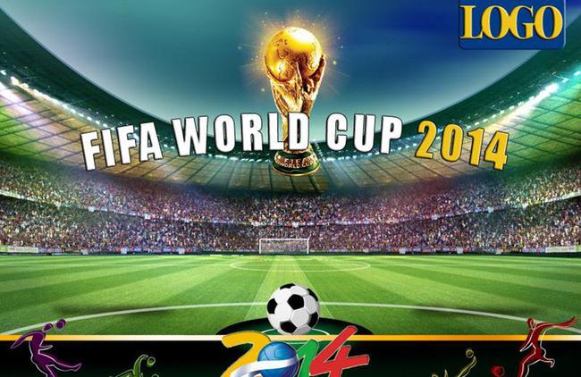 2014巴西世界杯海报背景设计图片