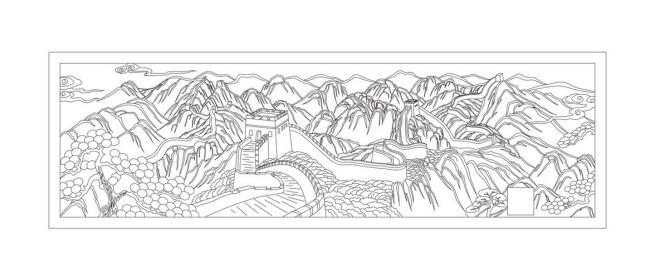 主页 原创专区 室内装饰|无框画|移门 雕刻图案 > 长城线描  关键词