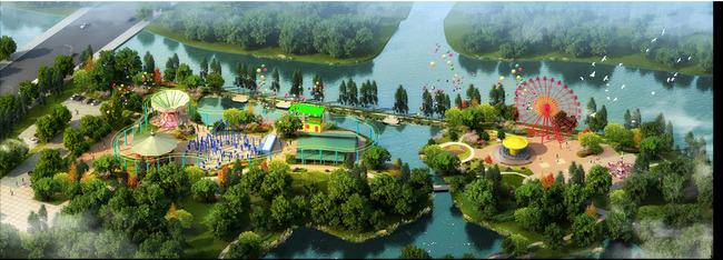 园林设计 > 公园儿童游乐园景观设计鸟瞰效果图  关键词: 景区 小区图片