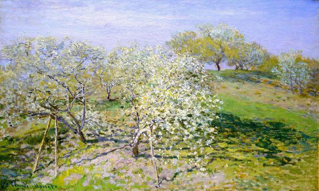 关键词: 世界杰出传世名画之苹果树开花 油画 风景油画 古典油画