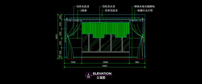 窗帘CAD图纸设计附带材质说明