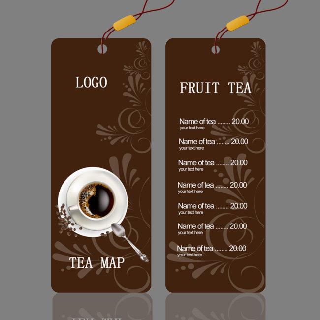 菜单标签 咖啡厅菜单 咖啡厅菜单设计 说明:咖啡厅菜单标签设计
