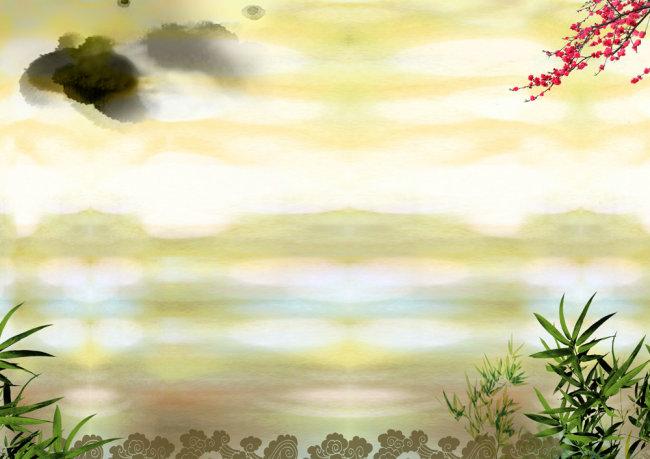 高清psd背景圖下載  關鍵詞: 古典 水墨 文化藝術 psd分層素材背景