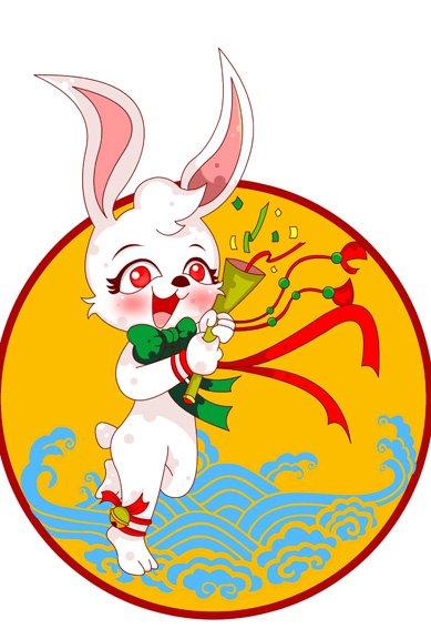 【psd】传统生肖 兔子 卡通形象之图图1号-13