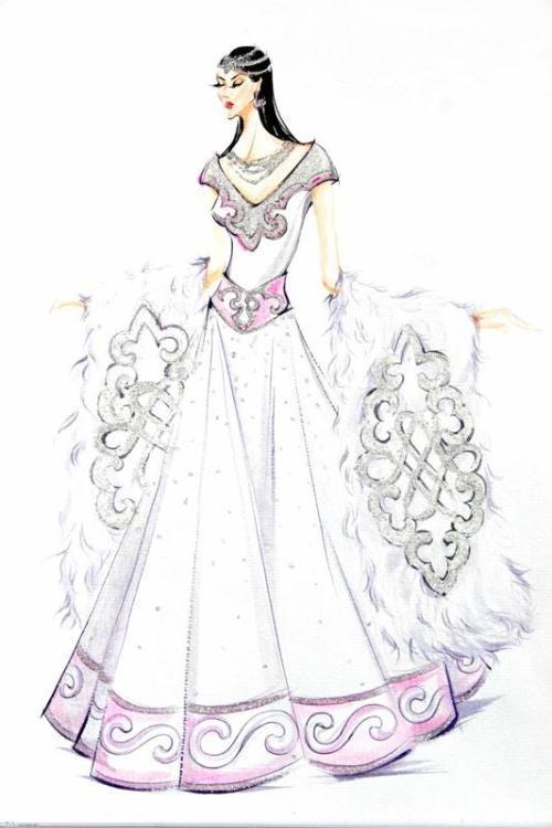 手绘 服装设计手稿 婚礼 礼服 婚纱 旗袍 手稿 女装 2014 流行 针织