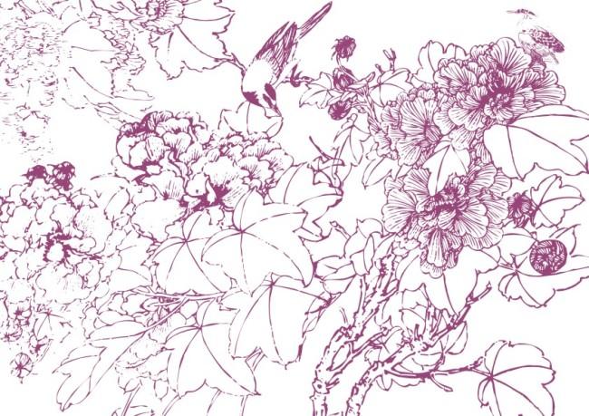 关键词: 手工画 矢量 素材 白描画 素描画 手绘画 美术画 简写画 简