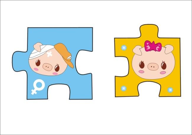 其它模板 产品设计 > 卡通猪拼积木  关键词: 卡通猪拼积木 cdr logo
