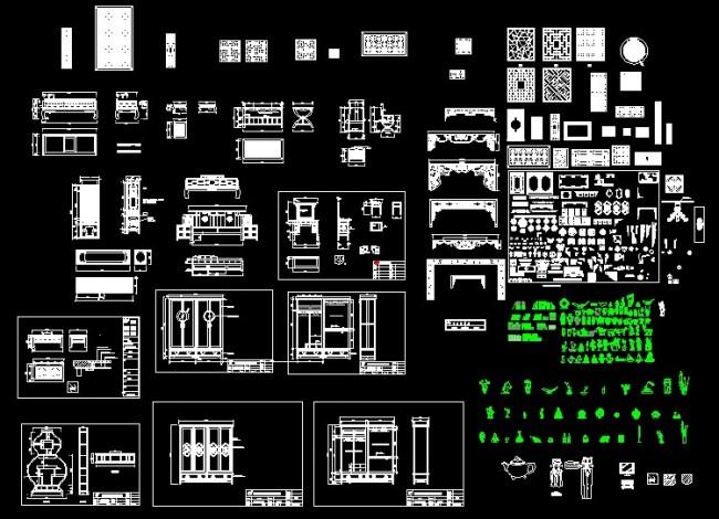 室内节点 家具装饰节点 古典家具节点 节点设计 说明:古典家具绘图