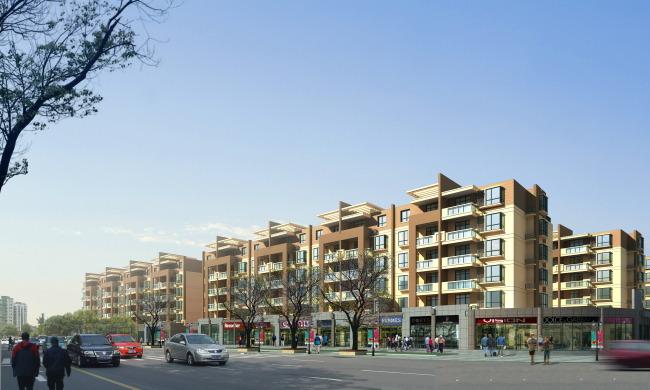 欧式建筑 现代建筑 商业建筑 园林效果图 景观效果图 说明:沿街商业