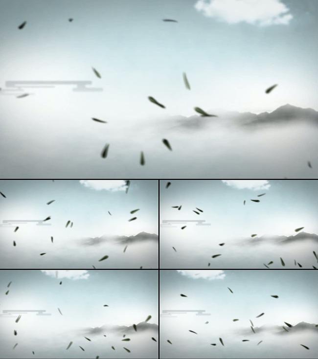 【】中国风水墨鱼led动态视频背景素材