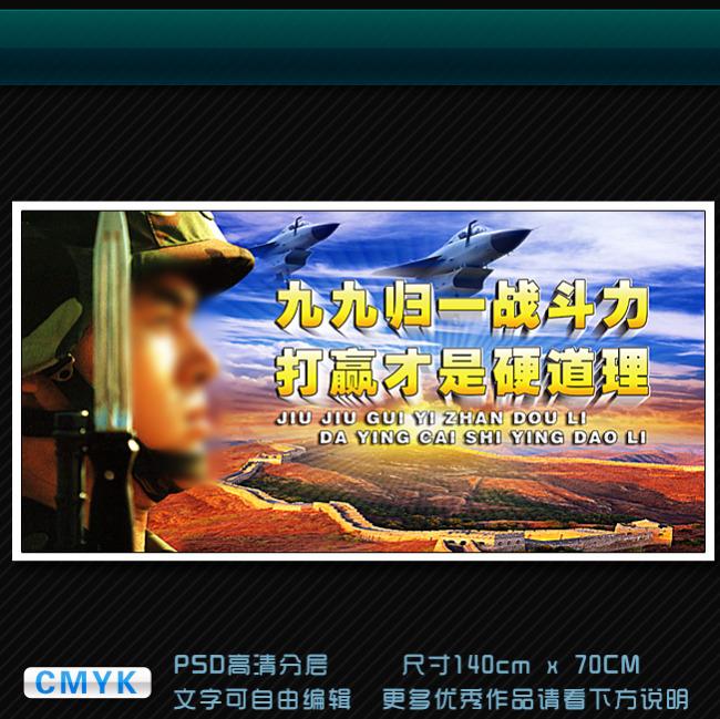 【psd】部队军事训练工作展板