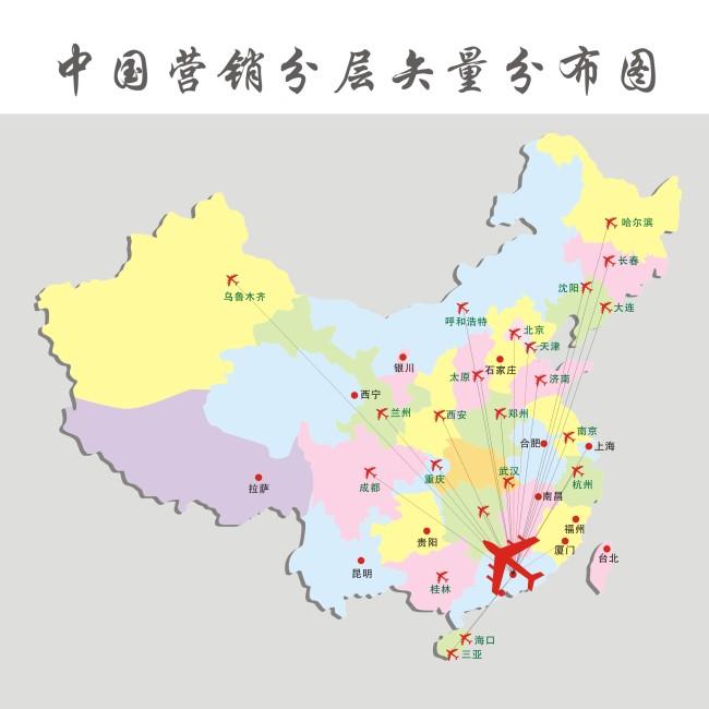 【cdr】中国营销地图_图片编号:wli1275591_其他展板