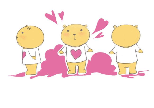 桃红色背景 说明:可爱小熊 分享到:qq空间新浪微博腾讯微博人人网开心