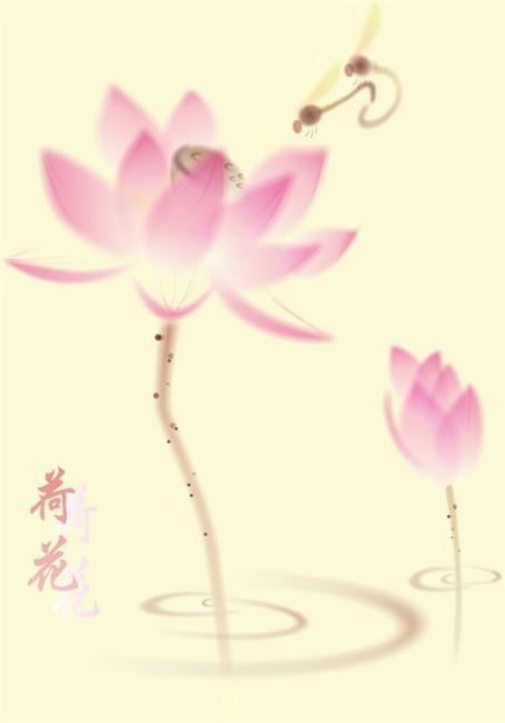 【cdr】水墨荷花_图片编号:wli1116878_原创素材_插画