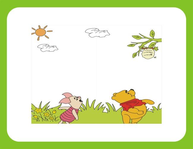 【cdr】移门 儿童移门 卡通漫画 小熊维尼 卡通图片